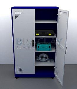 Armário Industrial p/ Ferramentas c/ 4 prateleiras BRA-2120 Braclay