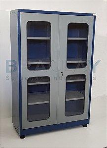 Armário Industrial para Ferramentas c/ 04 prateleiras e porta em acrílico BRA-2120A BRACLAY