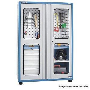 Armário industrial para ferramentas com 01 prateleira,  05 gavetas e porta em acrílico AM-12  MARCON