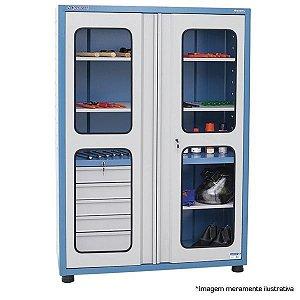 Armário industrial para ferramentas c/ 05 gavetas e 02 prateleiras porta em vidro AM-14 MARCON