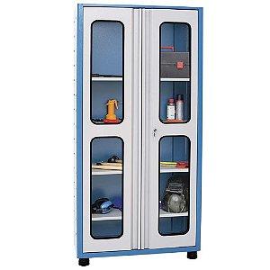 Armário industrial para ferramentas c/ 04 prateleiras e porta em vidro AM-72 MARCON