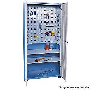 Armário industrial para ferramentas c/ 02 prateleiras e painel perfurado AM-73 MARCON