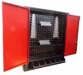 Armário Industrial de Parede para Ferramentas painel perfurado e cx Bin BRA-10207 Braclay