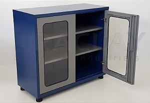 Armário industrial para ferramentas c/ 02 prateleiras e porta em acrílico BRA-10220 BRACLAY