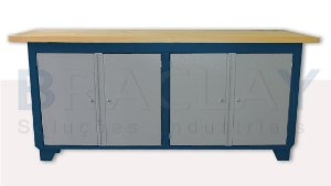 Bancada industrial para serviços c/ 04 portas BRA-10122