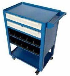 Carrinho industrial c/ 02 gavetas e caixas organizadoras BIN  BRA-1040