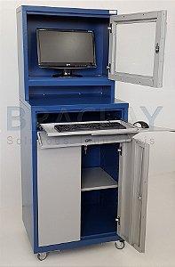 Rack Industrial Para computador Monitor LCD Visor Acrílico BRA-1089 Braclay