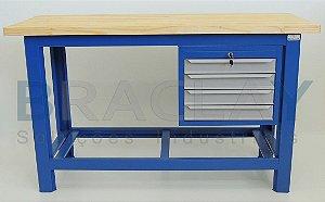 Bancada industrial aberta c/ 04 gavetas BRA-10106