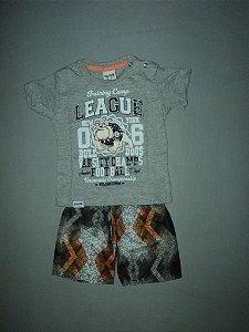 Conjunto Camiseta Mescla e Bermuda Fakini