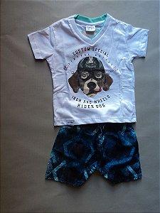 Conjunto Camiseta e Bermuda Dog Fakini