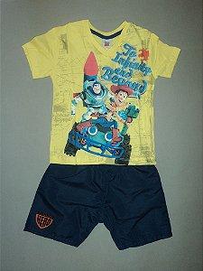 Conjunto Toy Story Camiseta e Bermuda Fakini