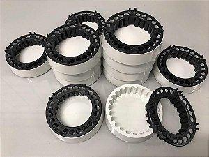 Cinzeiro anti-fumaça Jetaplast Branco e preto 20 peças
