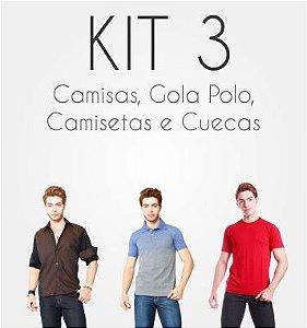 Kit Camisas, Gola Polo, Camisetas e Cuecas