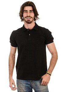 Camisa Gola Polo Piquet Preta