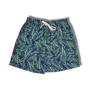 Short Mash Folhas Tropical