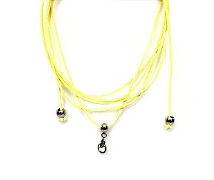 Colar Choker Amarelo