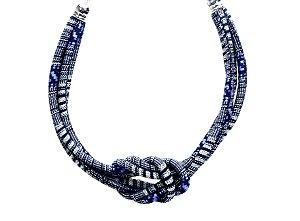 Maxi Colar de Fio encerado Azul