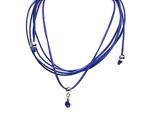 Colar Choker Azul