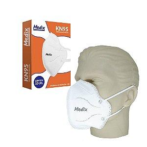 Máscara de Proteção Respiratória KN95 com 10 un. Medix