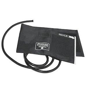 Braçadeira Adulto Nylon Velcro 18 a 35cm 2 Tubos Grafite Premium