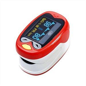 Oxímetro de Pulso Pediátrico Recarregável K1 Vermelho BIC