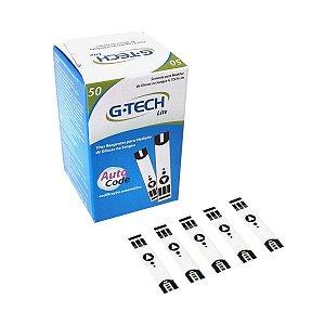 Tiras P/ Medição De Glicose C/ 50 Un. Para Aparelho Lite G-Tech