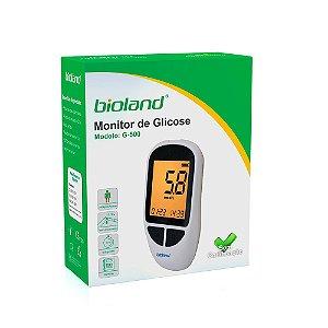 Kit Medidor De Glicose G-500 Completo C/ 25 Tiras Bioland