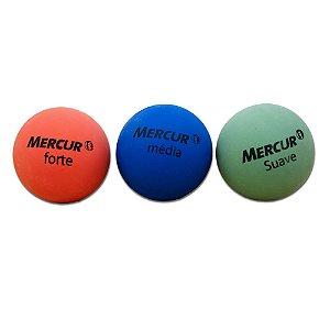 BOLA FISIOBOL CX C/ 3 BOLAS - VERDE / AZUL / VERMELHA MERCUR