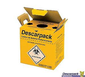Coletor Perfurocortante Papelão 3 Litros Descarpack
