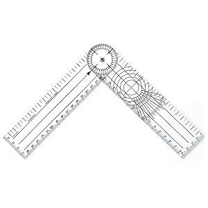 Goniômetro em Acrílico Cristal 20cm 2mm De Espessura Trident