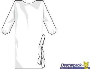 Avental Descartável Manga Longa Branco C/10 Un. Descarpack