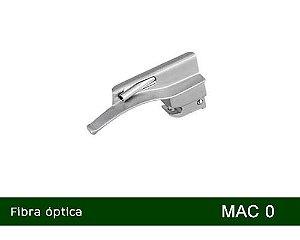 Lâmina Laringoscópio Fibra Óptica Curva Nº0 MD