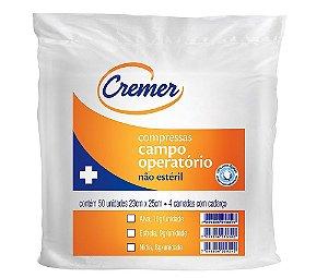COMPRESSA CAMPO OPERATÓRIO NÍDIA 45CM X 50CM C/ 50 UN CREMER