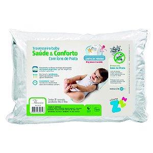 Travesseiro Baby Íons De Prata Z4271 Fibrasca