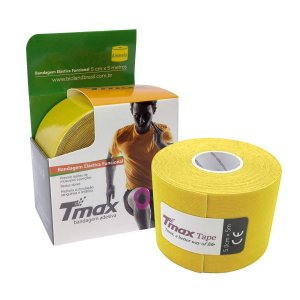 Fita Kinésio TMAX 5m x 5cm Amarela Bioland
