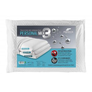 Travesseiro No Allergy Personal Mix 3 WC2051 Fibrasca