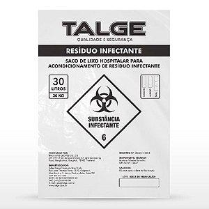 SACO PARA RESÍDUO INFECTANTE 30L PCT C/100 UN TALGE
