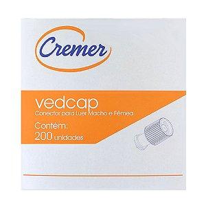 VEDCAP - TAMPA DE VEDAÇÃO PARA CONECTOR LUER MACHO/FÊMEA C/200UN CREMER