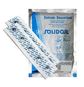 ELETRODO DESCARTÁVEL ECG 44 X 32MM MSGST-06 PCT C/50UN - SOLIDOR