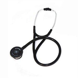 Estetoscópio Cardiológico Cardiophon 2.0 Preto Aço Inox Riester