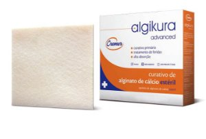 Curativo De Alginato De Cálcio 10x20cm CX C/ 5 Un. Cremer