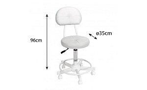 Mocho Cadeira Para Maca C/ Encosto Bertoli Branca Marcos Móveis
