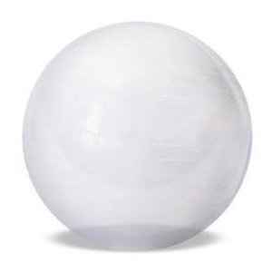 GYM BALL 65CM TRANSPARENTE ACTE