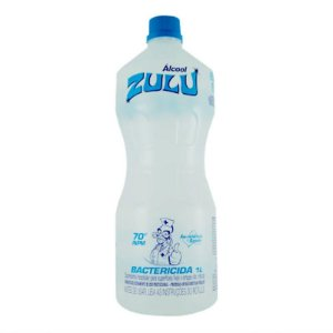 Álcool 70% antisséptico 1000mL Zulu