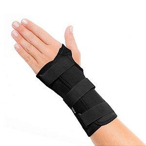 Órtese punho com tala curta mão esquerda Preta Tam. GG Mercur