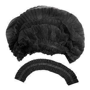 Touca Descartável Sanfonada Black Pct c/ 100 Un. Protdesc