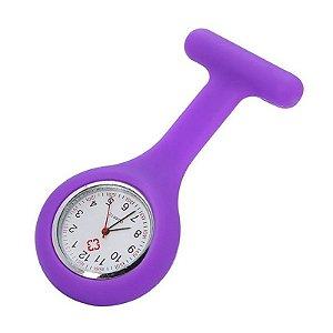 Relógio para Lapela Silicone Roxo Supermedy