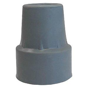 Ponteira para Muleta e Bengala 19mm Cinza Unidade Dellamed