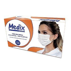 Máscara Cirúrgica Tripla com Elástico Caixa C/50 Un. Medix