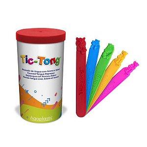 Porta Abaixador De Língua + 40 TIC-TONG Animal Agaplastic